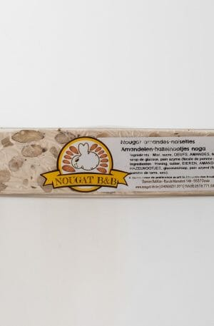 nougat belge artisanal amandes noisettes