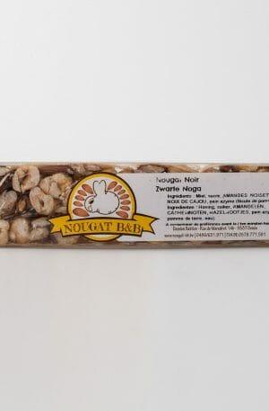 nougat noir belge artisanal amandes noisettes noix de cajou