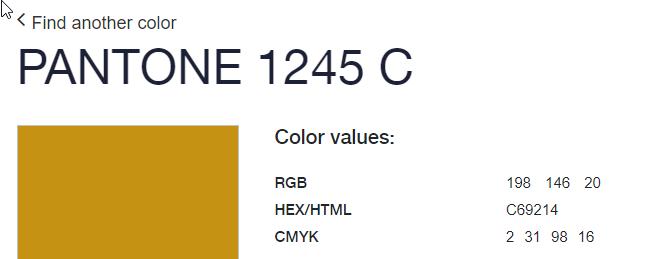 Pantone 1245 C